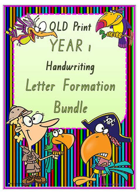 year  handwriting letter formation bundle qld print