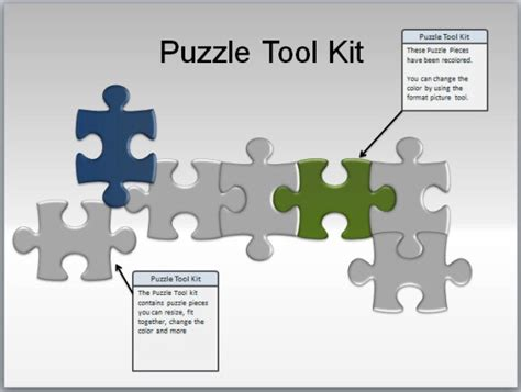 puzzle pieces toolkit  powerpoint