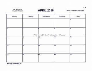 Our no frills calendars print preview shots of formats now for Free 5 day calendar template