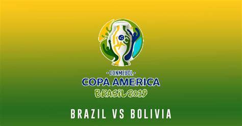 2019 Copa America   Brazil vs Bolivia Prediction, Pick