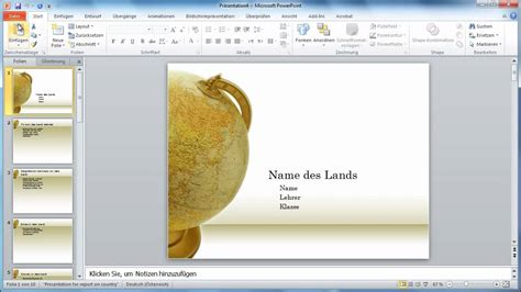 powerpoint  handzettel einer praesentation  word