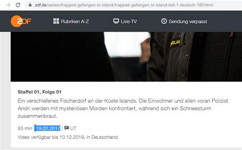 Danach dringt er in das haus des polizisten paul warnke ein und entführt dessen frau. ZDF tivi und ZDF Neo fehlen | MediathekView-Forum