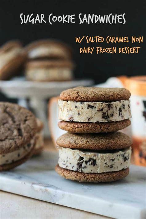 sugar cookie sandwich  salted caramel frozen dessert