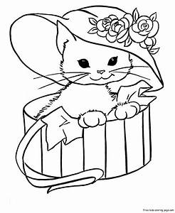 Cute Kitten Coloring Pages Getcoloringpagescom