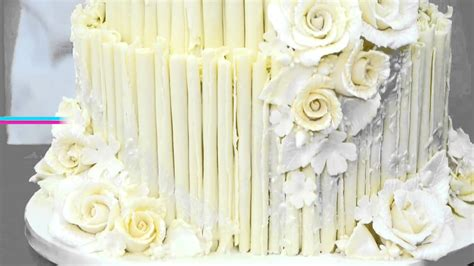 Rustic White Chocolate Wedding Cake Overview Youtube