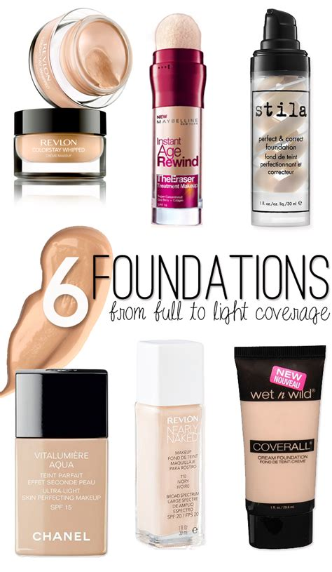 best drugstore light coverage foundation the best foundations hairspray and highheels