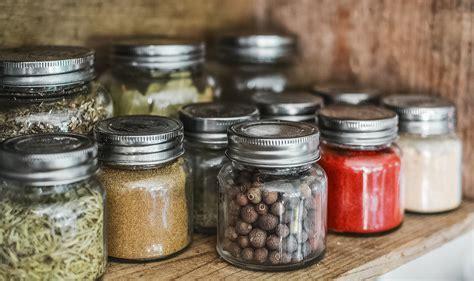 Spice Bottles on Shelf · Free Stock Photo