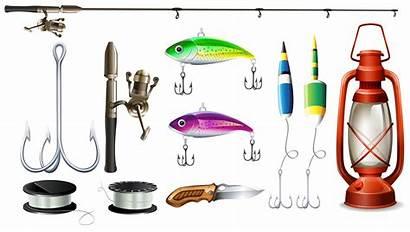 Fishing Equipment Pole Hooks Vector Illustration Illustrations