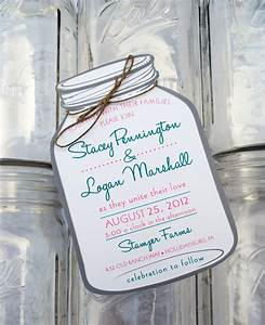 mason jar wedding invitations mason jar save the dates With mason jar shaped wedding invitations