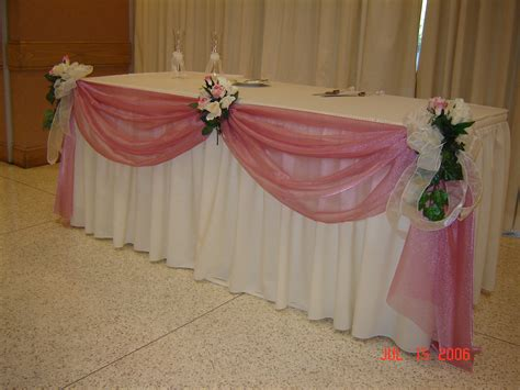 Table Draping - simply weddings table swags linen rentals fort