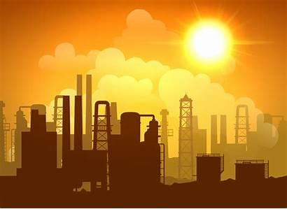 Oil Refinery Vector Poster Freepik Background Factory