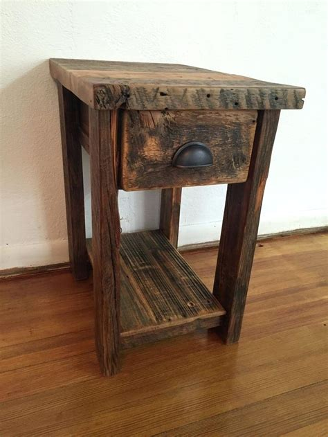 rustic wood table ls rustic wood end tables thelt co