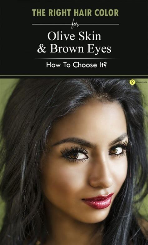 The Right Shade Of Black Hair by How To Choose The Right Hair Color For Olive Skin And