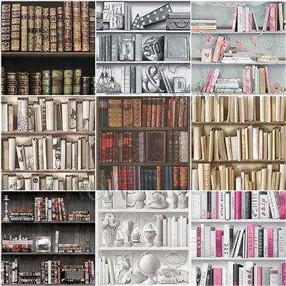 Bookcase Library Pink Antique Wall Silver Feature