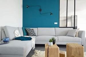Mur Bleu Pétrole : canap gris id es d co pour le sublimer c t maison ~ Melissatoandfro.com Idées de Décoration