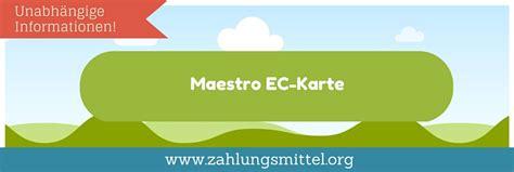 ratgeber  bedeutet maestro ec karte