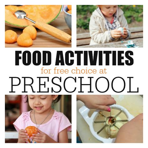 food activities at free choice in preschool no time for 647 | list of free choice food activities for preschool from no time for flash cards