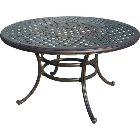 darlee series 80 cast aluminum pedestal patio bar table