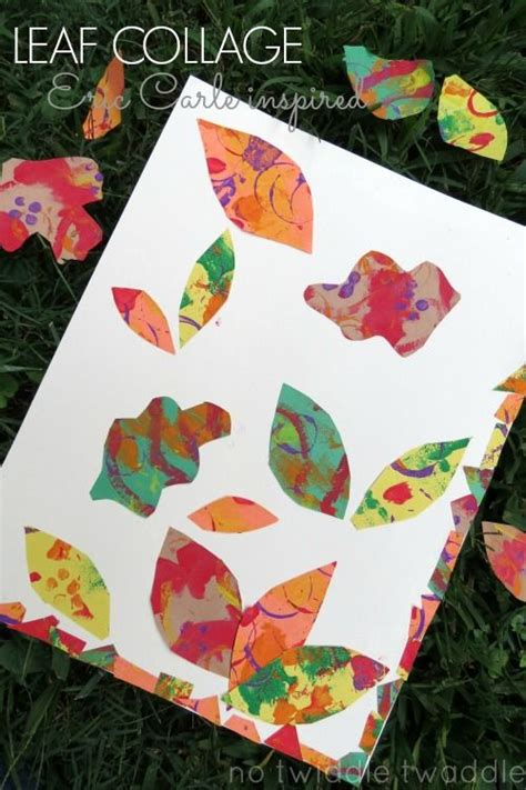 preschool collage leaf collage eric carle inspired beautiful for 960