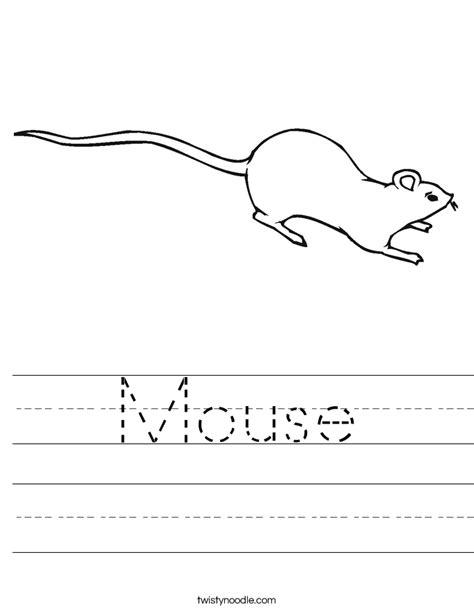 Mouse Worksheet  Twisty Noodle