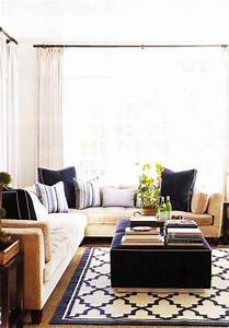 Trellis rug contemporary living room for Navy rug living room