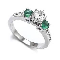 emerald and engagement rings 83ct 14k white gold emerald engagement ring ebay