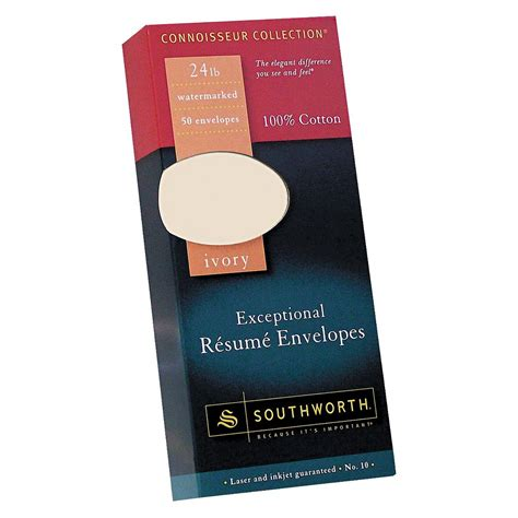 southworth cotton resume envelope ivory