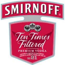 smirnoff vodka label