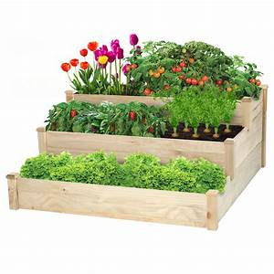 3, Tier, Wood, Planter, Box, Raised, Garden, Bed, Elevated, Plants, Stand, For, Backyard, Outdoor, Indoor