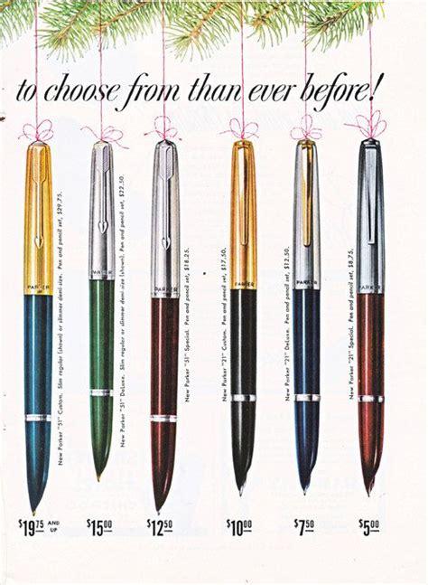 vintage  ad   parker pens  pencils