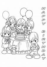 Coloring Birthday Happy Printable Precious Moments Mom Sheets Adults Sheet Cards Sapphira Ananias Colouring Printables Parties Colour Cake Birthdays Adult sketch template