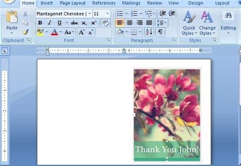 thank you card template in word thank you card templates for word