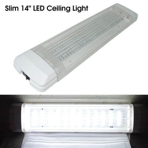 new 15 quot 450lm led 12v interior light fixture white cargo