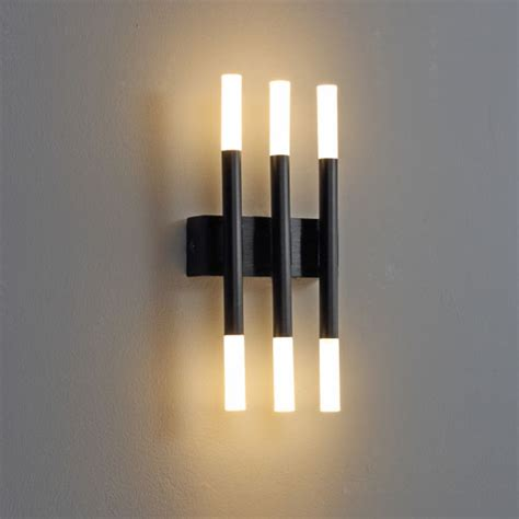 lwa241 6 watt wall sconce lighting black modern interior