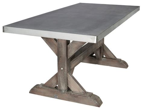 farm dining table legs zinc farm trestle table industrial dining tables by
