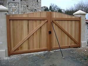 Portail Bois 4m : fabriquer son portail en bois kt53 jornalagora ~ Premium-room.com Idées de Décoration
