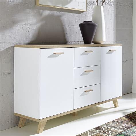 buffet scandinave blanc  bois  portes  tiroirs malmo