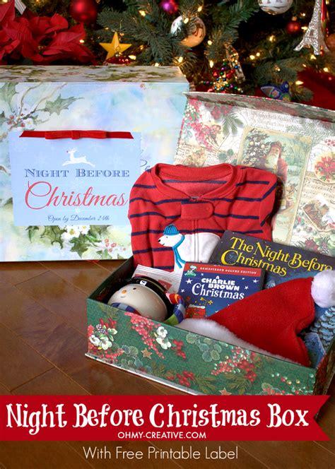 night  christmas box   printable label