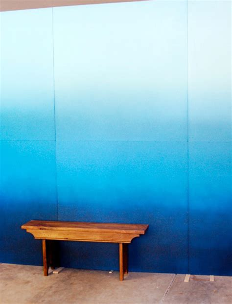 ombre wall diy projects ideas  suggestions
