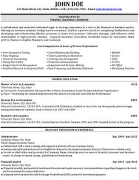 Business Banker Resumes by Best Finance Resume Templates Sles On Resume Templates Resume And A Professional