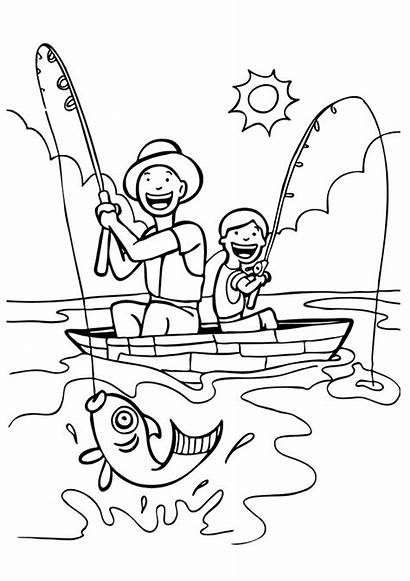 Fisherman Coloring Pages Printable Books Categories Similar