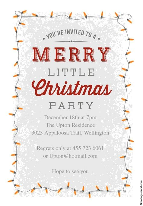 12 Free Printable Christmas Party Invitations (With images