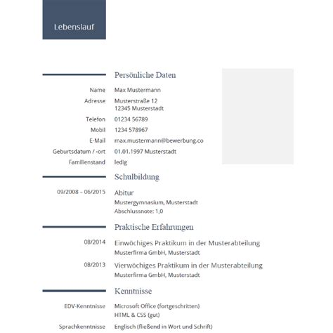 Tabellarischer Lebenslauf Schüler by Vorlage Lebenslauf Schuler Papac Info
