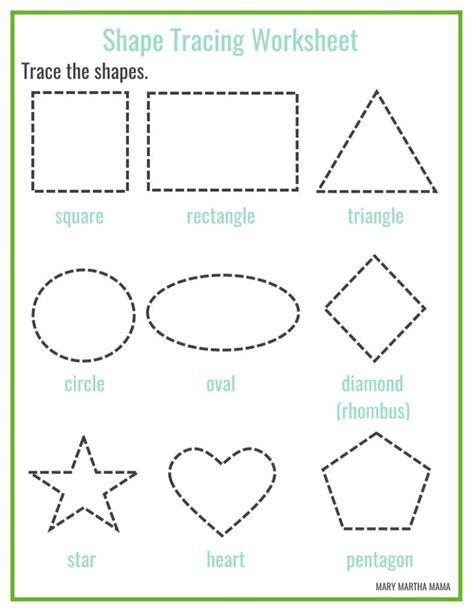 Shapes Worksheets For Preschool [free Printables]  Mary Martha Mama