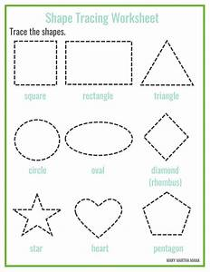 preschool printables mary martha mama With shape tracing templates