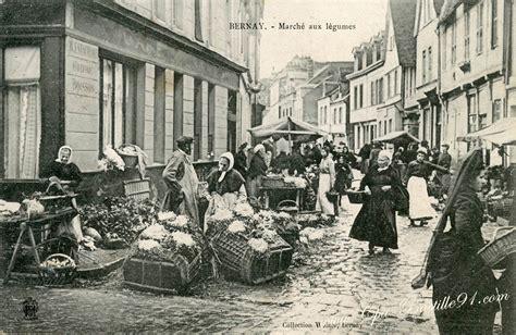 les de bureau anciennes carte postale ancienne de bernay marché aux légumes