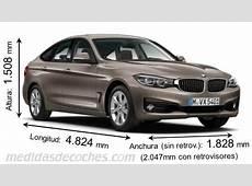 Medidas BMW Serie 3 Gran Turismo 2016, maletero e interior