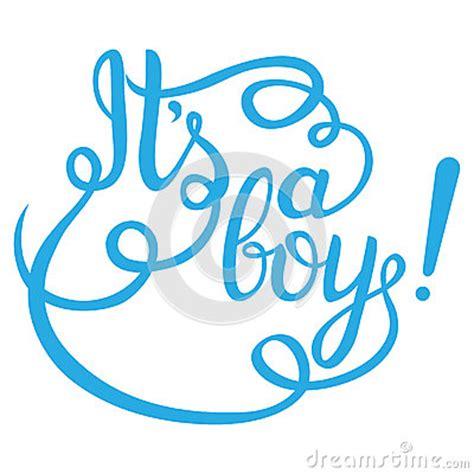 boy lettering baby shower invitation stock