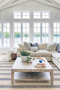 lake home decor Lake House Blue and White Living Room Decor - The Lilypad Cottage