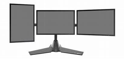 Monitor Clipart Stand Triple Computer Tand Tris